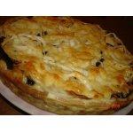 Открытый пирог с баклажанами