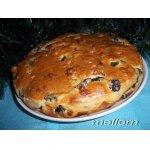 Пирог-кекс с грибами и сыром
