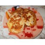 Рубленые куриные котлеты с плавленым сыром