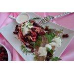 Салат из отварной сельди и свеклы
