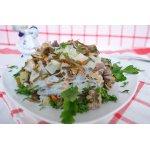 Салат из куриной печени и морской капусты
