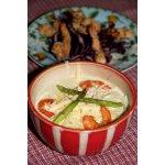 Крем-суп из цукини с креветками