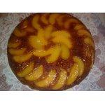 Постный персиковый пирог-перевeртыш