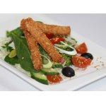 Витаминный салат с овсяными палочками