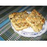 Пирог творожный с ревенем на немецкий лад