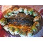 Рыбка-табака с брюссельской капустой