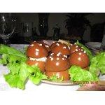 Фаршированные грибы из яиц