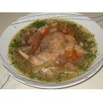 Суп из кролика с каштанами