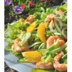 Салат с креветками Солнечное настроение