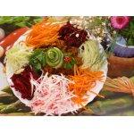 Овощной салат с мясом Яркая идея