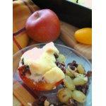 Запеченные яблоки с виноградом и орехами