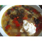 Гречневый суп с оливками