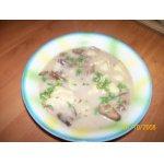 Грибной  суп с сыром и клецками