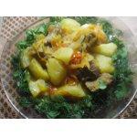 Картофель с мясом и пряными травами