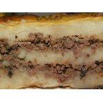 Картофельная запеканка с куриными сердечками и грибами