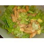 Теплый салат из медовой курицы