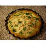 Пирог  с брокколи и креветками