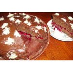 Торт шоколадно-кокосово-брусничный