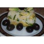 Японская закуска с рисом, авокадо и цуккини