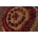 Медовый торт Малиновое ожерелье