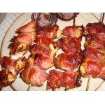 Сувлаки из куриной грудки с беконом
