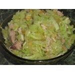 Зеленый салат с редькой