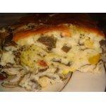 Сырная запеканка со шпинатом и брокколи