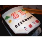 "Новогодний торт ""Последний день календаря"""