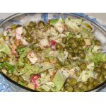 Салат «Конец праздникам» с теплым горошком