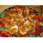 Закуска из варено-жареных яиц