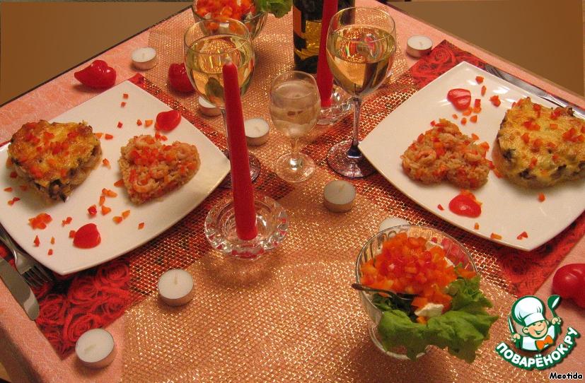 Грибной жюльен с рисом – кулинарный рецепт