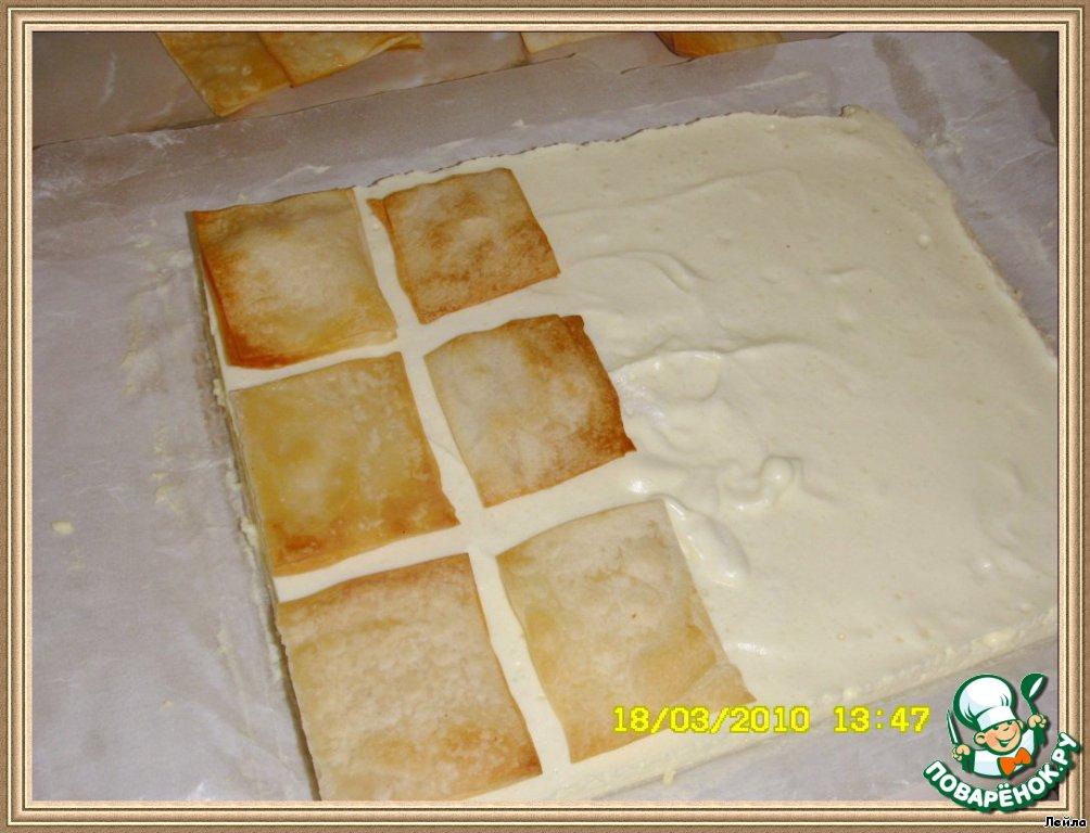 Мильфей-пирожные с кремом шибуст