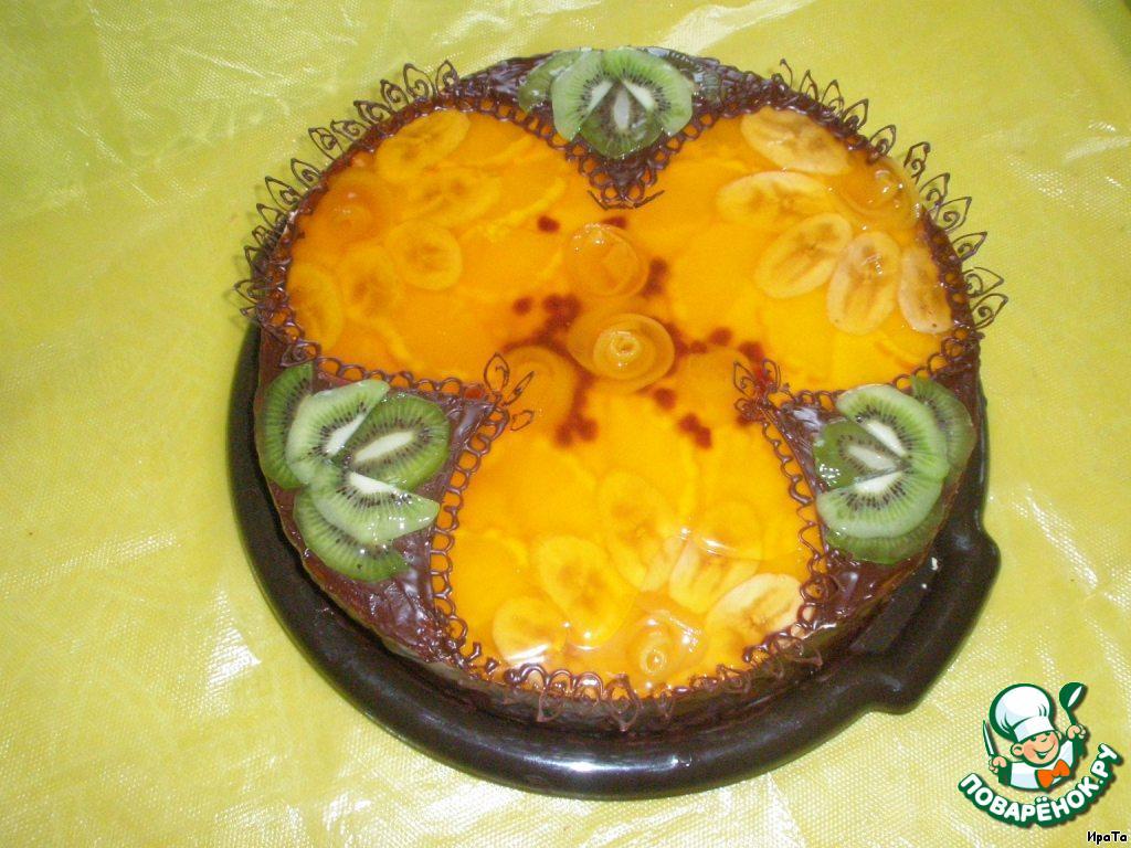 Торт фруктовый с киви