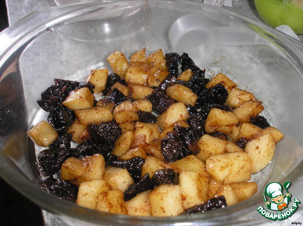 Крамбль (Crumble) с яблоками и черносливом