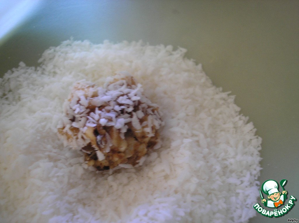 Заварное печенье с сухофруктами и воздушным рисом