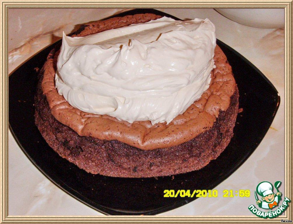 Шоколадно-меренго-муссовый торт
