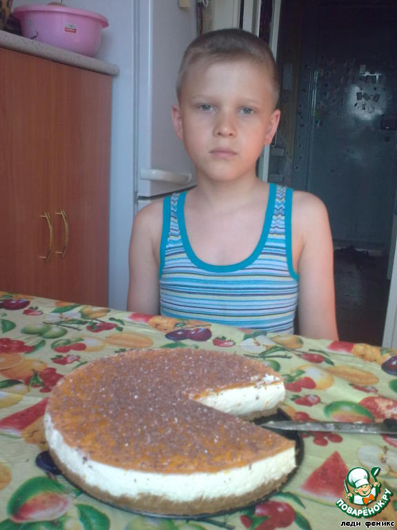 Апельсиновый тортик без выпечки