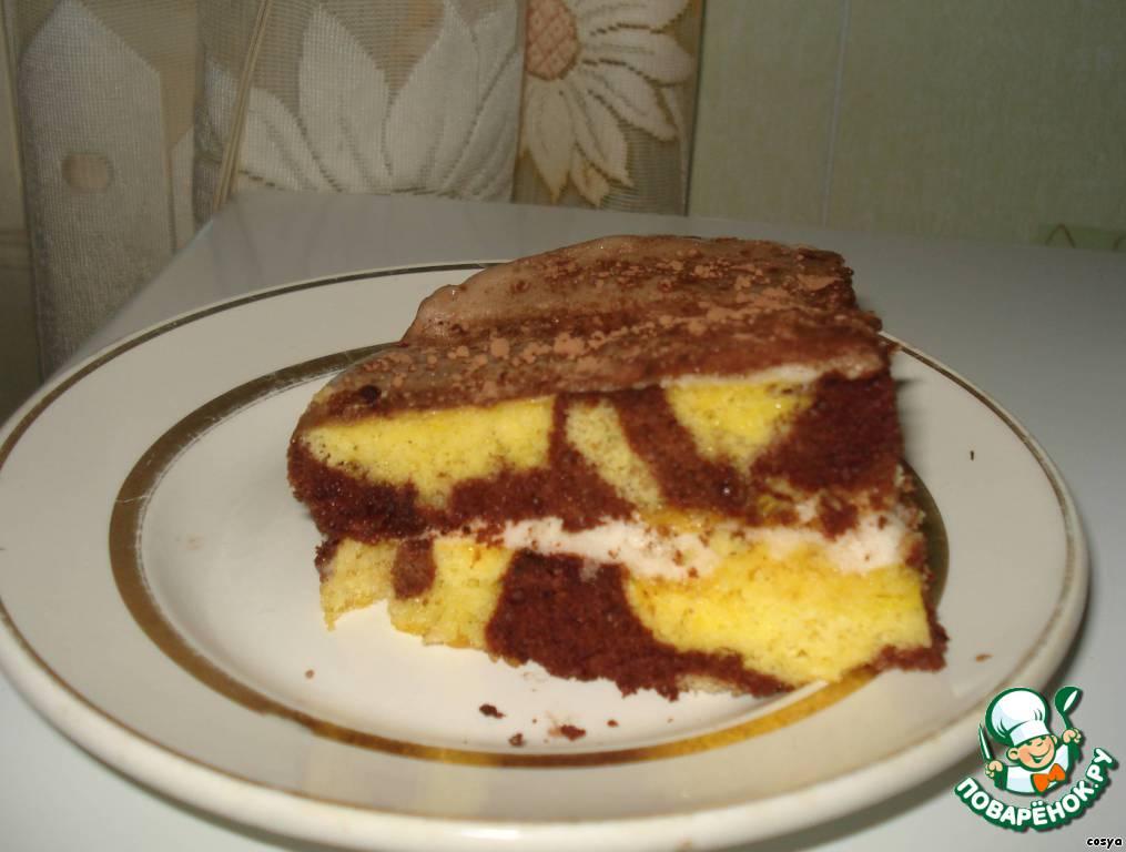 Бисквитный тортик-зебра Сама нежность