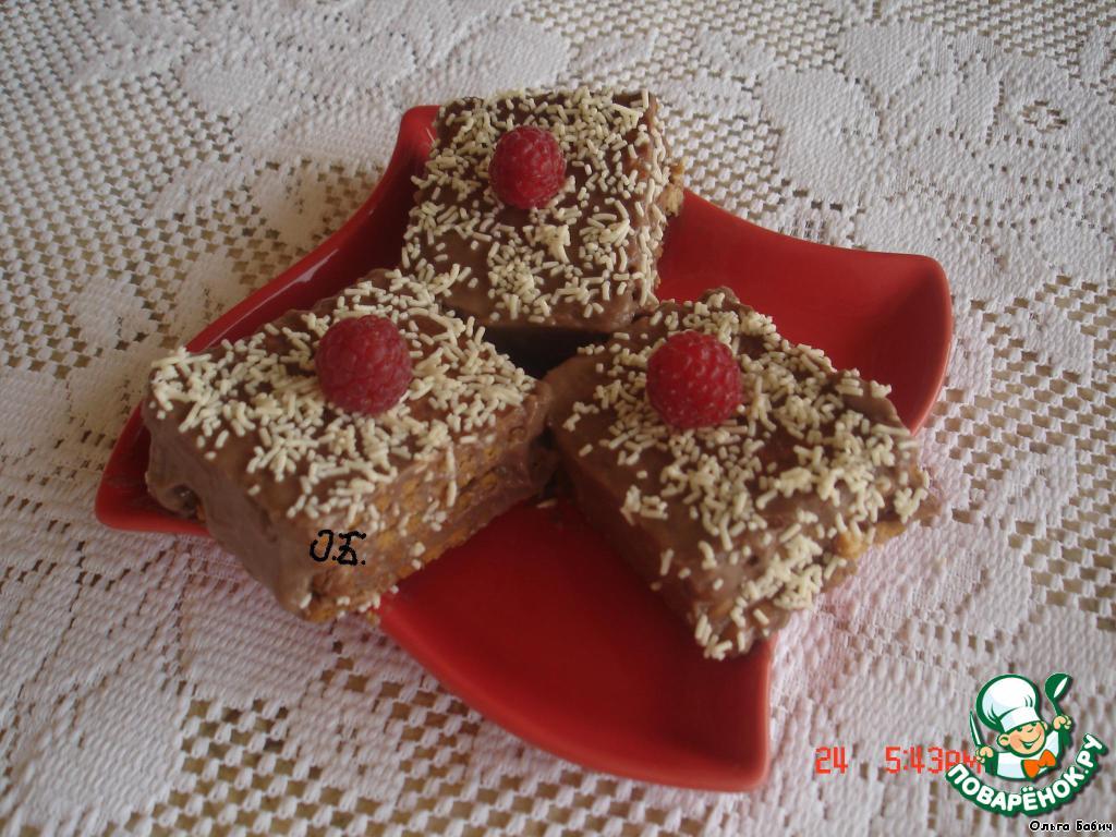 Пирожное без выпечки с кокосовым кремом