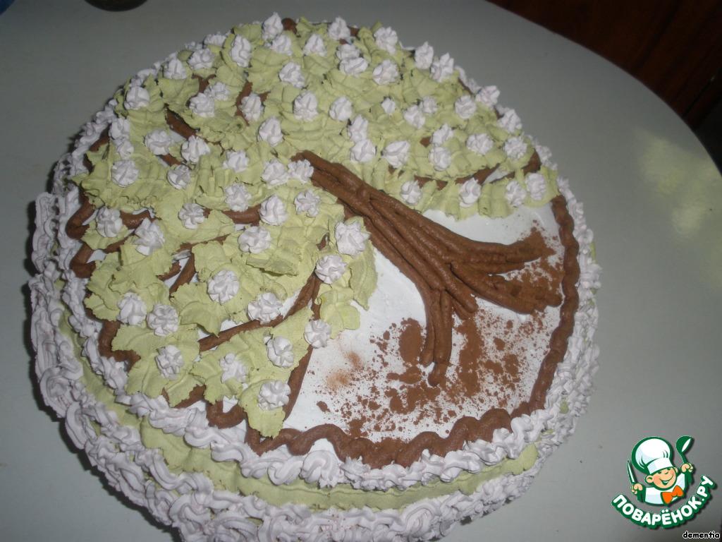 Торт шоколадный Вишня в цвету для Оленьки Бабич