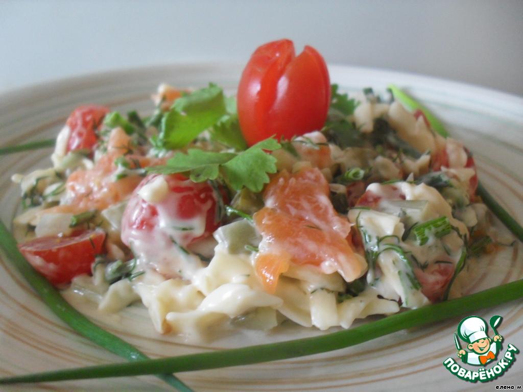 фото красной рыбой салат с рецепт с