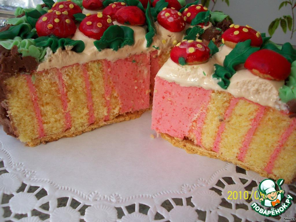 Торт Корзинка с грибами