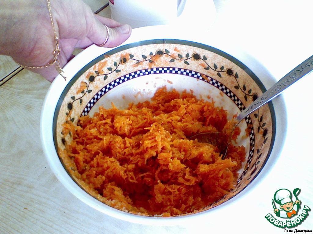 Постное морковное печенье