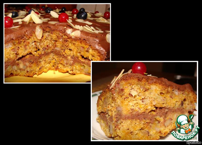 Морковно-банановый пирог-торт