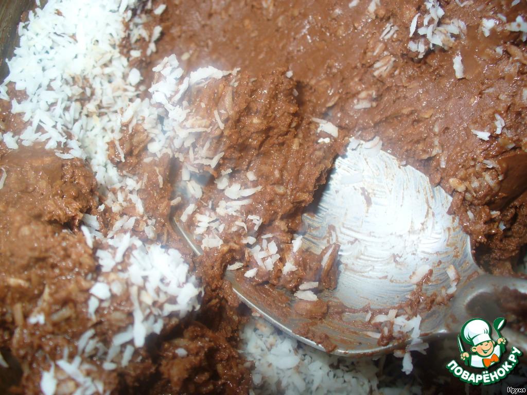 Шоколадное печенье из мюсли