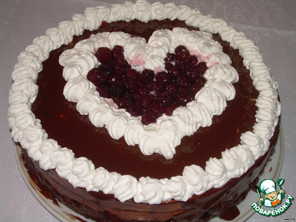 """Торт """"Вишнeвая любовь"""""""