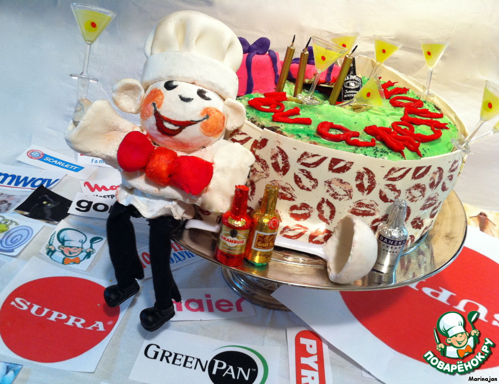 Торт  Happy Birthday! povarenok. ru