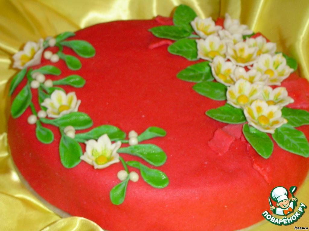 Торт Зимние цветы