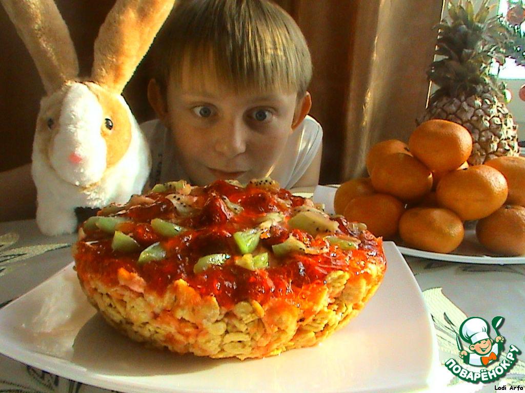 Великолепный новогодний десерт  Клубника на снегу