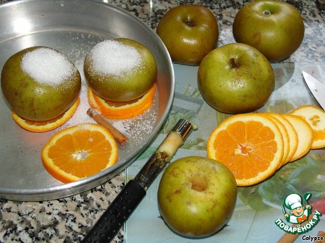 Яблоки, запеченные с апельсином